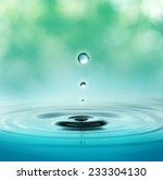 close up of three droplets in a ... | Shutterstock . vector #233304130