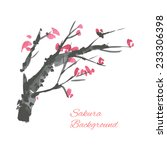 cherry blossom branch... | Shutterstock .eps vector #233306398
