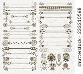 vintage hand drawn design... | Shutterstock .eps vector #233310568