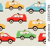 traffic jam with people... | Shutterstock .eps vector #233314786