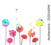 watercolor dandelion background | Shutterstock .eps vector #233316046