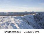Snow Covered Mountain Ridge ...