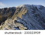 Snow Covered Mountain Ridge In...