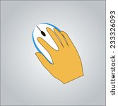 mouse and hand. vector...   Shutterstock .eps vector #233326093
