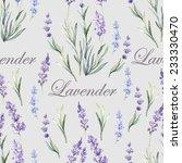 watercolor lavender botanical... | Shutterstock .eps vector #233330470