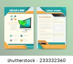 abstract vector brochure... | Shutterstock .eps vector #233332360