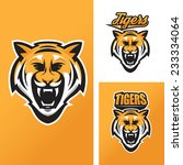tiger mascot for sport teams | Shutterstock .eps vector #233334064