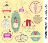 set of vintage wedding and... | Shutterstock .eps vector #233337223