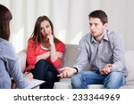 view of couple with problems... | Shutterstock . vector #233344969
