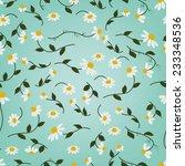 chamomile herbal tea seamless... | Shutterstock .eps vector #233348536