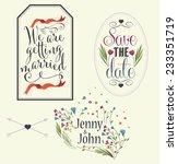 wedding invitation graphic set. | Shutterstock .eps vector #233351719