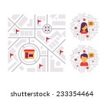 location based marketing.... | Shutterstock .eps vector #233354464