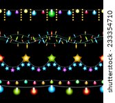 vector colored christmas lights ... | Shutterstock .eps vector #233354710