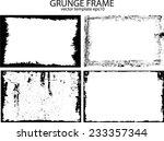 grunge frame set. vector... | Shutterstock .eps vector #233357344