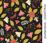 seamless pattern with cute... | Shutterstock .eps vector #233357923