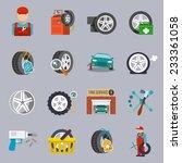 tire service car auto mechanic...   Shutterstock .eps vector #233361058