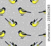 seamless pattern with cute tit... | Shutterstock .eps vector #233361283