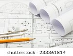 architectural plans  pencil... | Shutterstock . vector #233361814
