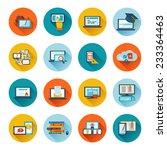 online education e learning... | Shutterstock .eps vector #233364463