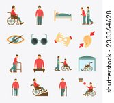 disabled people care help... | Shutterstock .eps vector #233364628