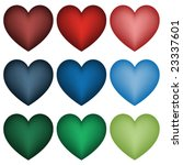 set of vector hearts | Shutterstock .eps vector #23337601