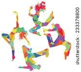 silhouette of the dance ...   Shutterstock .eps vector #233378800