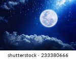 Full Moon In Night Sky With...