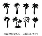 Vector Black Palm Icon On Whit...