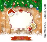 christmas background with label ... | Shutterstock .eps vector #233387788