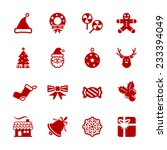 christmas icon set 6  vector... | Shutterstock .eps vector #233394049