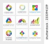 set of 9 vector elements for... | Shutterstock .eps vector #233394109
