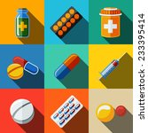 """medicine  drugs  flat icons... 