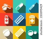 medicine  drugs  white flat... | Shutterstock .eps vector #233395429