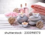 composition of spa treatment on ... | Shutterstock . vector #233398573