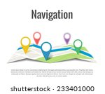 map with a pin isolated on white | Shutterstock .eps vector #233401000