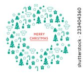 christmas circle with xmas... | Shutterstock .eps vector #233404360