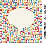 colorful social media user... | Shutterstock . vector #233409589