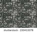 seamless christmas pattern | Shutterstock .eps vector #233413378