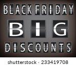 black friday in giant discount  ... | Shutterstock .eps vector #233419708