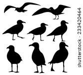 sea gull silhouette  vector  | Shutterstock .eps vector #233420464