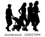 families with child and...   Shutterstock .eps vector #233427094