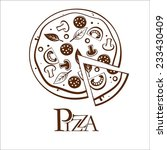 tasty pizza. vector. | Shutterstock .eps vector #233430409