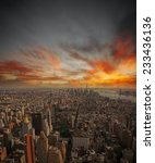 aerial view of new york city... | Shutterstock . vector #233436136