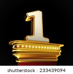 number one on a golden platform ...   Shutterstock . vector #233439094