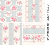 seamless floral backgrounds and ... | Shutterstock .eps vector #233444110