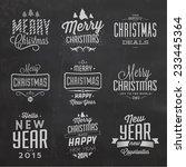 christmas typographic... | Shutterstock .eps vector #233445364