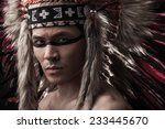 naked indian strong man with... | Shutterstock . vector #233445670