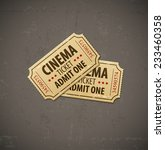 two old cinema tickets for... | Shutterstock .eps vector #233460358