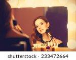 beautiful redhead women... | Shutterstock . vector #233472664