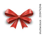 realistic red ribbon bow with... | Shutterstock .eps vector #233476246